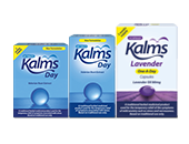 Kalms Tablets & Kalms Lavender One-A-Day Capsules product range