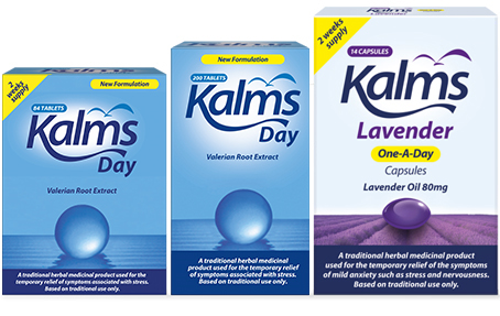 Kalms Day & Kalms Lavender One-A-Day Capsules product range